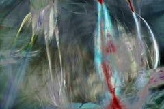 Cyfrowo zmieniający, abstrakcjonistyczny micrograph pająka jedwab od sieci Zdjęcia Royalty Free