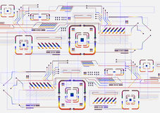 cyfrowy abstrakcjonistyczny tło Obrazy Stock