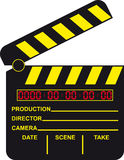 cyfrowy clapboard film royalty ilustracja