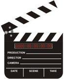 cyfrowy clapboard film otwarte Obraz Stock