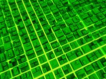 cyfrowy fantastyczny megalopolis Zdjęcia Stock