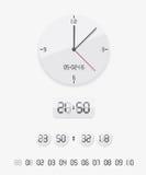 Cyfrowy i analogowy zegar Zdjęcia Royalty Free