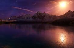 Cyfrowy jezioro Zdjęcie Royalty Free