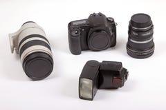 cyfrowy kamera zestaw Obrazy Royalty Free