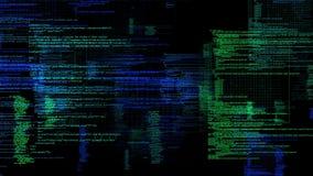 Cyfrowy Komputerowego kodu dane matryca 4K royalty ilustracja