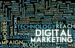 cyfrowy marketing Zdjęcia Stock