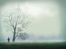 cyfrowy mgły ranek obraz ilustracja wektor