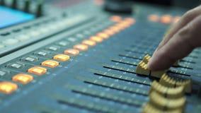 Cyfrowy miesza konsolę dla studio nagrań zbiory wideo