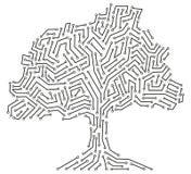 cyfrowy pojęcia drzewo Obrazy Royalty Free