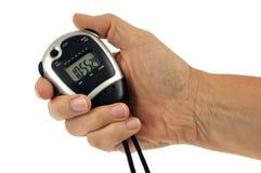Cyfrowy stopwatch w ręce zdjęcia stock