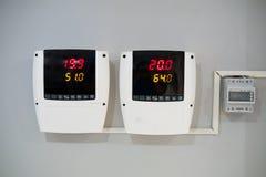 Cyfrowy termometr i wilgotność metr zdjęcie royalty free