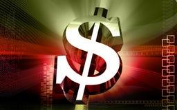 cyfrowy tło dolar Fotografia Stock