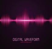 cyfrowy waveform Fotografia Royalty Free