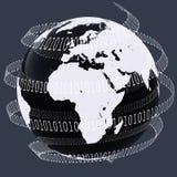 cyfrowy świat royalty ilustracja