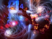 cyfrowy wszechświat Obraz Royalty Free