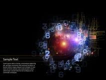 cyfrowy wszechświat Fotografia Royalty Free
