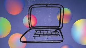 Cyfrowy złożony laptop