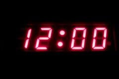 cyfrowy zegar Fotografia Royalty Free