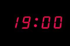 cyfrowy zegar Zdjęcia Stock