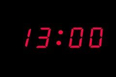 cyfrowy zegar Obraz Stock