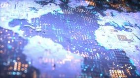 Cyfrowych Światowi Komunikacyjni dane ilustracja wektor