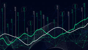 Cyfrowych analityka pojęcie, dane unaocznienie, pieniężny rozkład, wektor ilustracja wektor