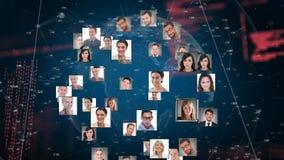 Cyfrowych composites ludzie i interfejsów kody zbiory wideo
