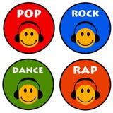 cyfrowych dróg wycinek ikon ilustracyjnego zawierać muzycznego zadrapanie Obrazy Royalty Free