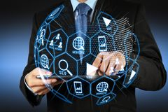 Cyfrowych marketingowi środki (strony internetowej reklama, email, ogólnospołeczna sieć, SEO, zdjęcie stock