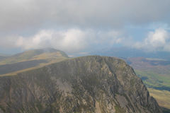 Cyfrwy (The Saddle). Taken from Cadair Idris (Panygadair) Near Dolgellau North Wales Snowdonia National Park Stock Photo