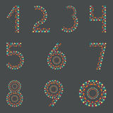 Cyfry 1,2,3,4,5,6,7,8,9,0 Przyjęcie flaga pielęgniarki royalty ilustracja