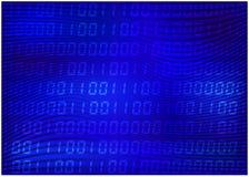 0,1 cyfry wektoru tapeta niebieski kod binarny tło Cyfrowej technologii matrycowa abstrakcjonistyczna ilustracja Zdjęcie Royalty Free