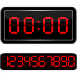 cyfry zegarowa cyfrowa pełnia dostaje właśnie leds prawy niepotrzebny up Cyfrowy Uhr Nummer Zdjęcie Stock