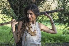 Cygańska szaman kobieta Obrazy Stock