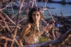 Cygańska szaman kobieta Zdjęcia Royalty Free