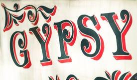 Cyganu znak zdjęcie stock