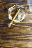 Cygarowy ashtray wszystkie dym Obraz Stock