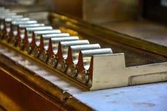 Cygarowy właściciel w Budapest parlamentu zakończeniu up zdjęcie stock