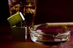 cygarowy whisky Fotografia Stock