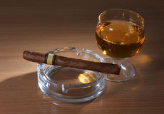 cygarowy whisky Fotografia Royalty Free