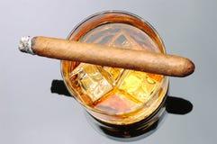 cygarowy whisky. Zdjęcie Stock