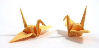 Cygne d'origami Photos libres de droits