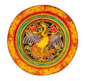 Cygne dans la roue de dragon images libres de droits