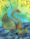 cygne de canard Photographie stock libre de droits