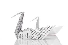 Cygne et cygne d'Origami Image libre de droits