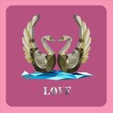 Cygnes d'amour illustration de vecteur