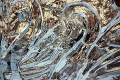 Cygnes dans la glace. Photos libres de droits
