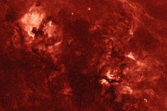 Cygnus constellation Hydrogen nebular clouds Stock Images