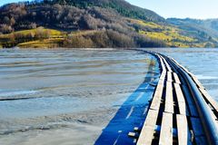 Cyjanek jezioro przy Geamana Rumunia Obraz Stock