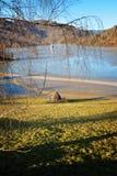 Cyjanek jezioro przy Geamana Rumunia Fotografia Royalty Free